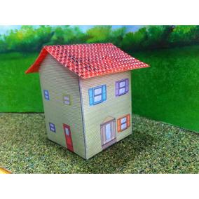 Tren Casa De Carton 6 Escala Ho Maqueta Trenes Arquitecto Js