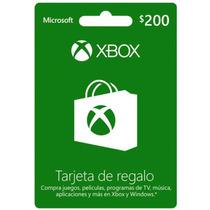 Tarjeta De Regalo Xbox $200