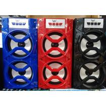 Caixa De Som Bluetooth Usb/sd/rádio Fm 80w Pmpo