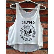 Blusa Ramones Calypso Feminina Cropped Cavada Babylook Nova