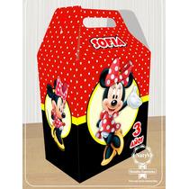 Cajitas Dulceros Personalizados Mickey Mouse Minnie 15 Pzas