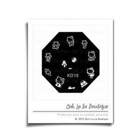 Placa Estampado Uñas Kd18 Hello Kitty Sellos #0513