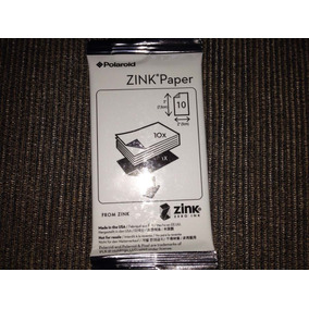 Papel Polaroid Zink Paper 2x3 (10 Folhas)