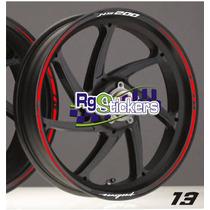 Stickers Para Rines Pulsar Fz Suzuki Italika Honda Etc.