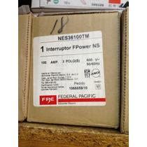 Interruptor Termomagnetico 3 Polos 100 Amperes Federapacific