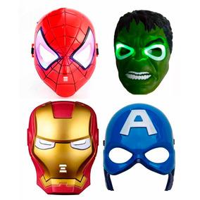 Máscara Led Vingadores Super Herois Aranha Hulk América