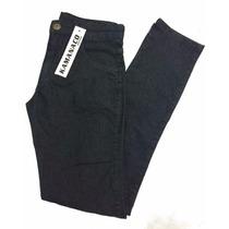 Calça Masculina Jeans Preta Black Skinny Elastano 38ao48