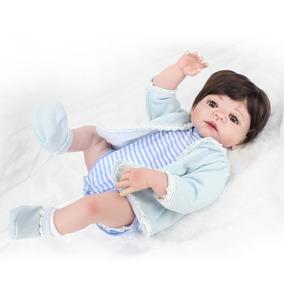 Bebê Reborn Menino De Silicone Com Roupa Parece De Verdade