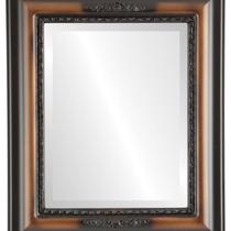 Espejo De Pared Boston Framed Rectangle In Walnut, 17 X21