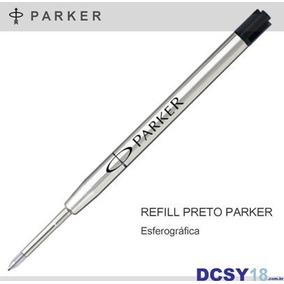 Carga Parker - Refil Tinta Preta - Esferográfica Ponta Fina