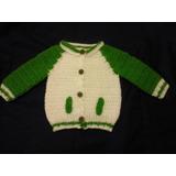 Saquito Tejido A Crochet Para Bebe