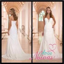 Vestido De Noiva Elegante Praia Civil Pronta Entrega Novo
