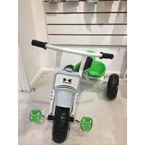 Triciclo A Pedal Super Reforzado Solido Kawasaki Metalico