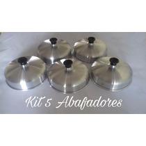 Kit Abafador De Hambúrguer Alumínio Para Lanchonete 5 Pçs