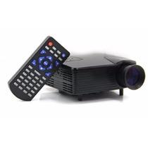 Mini Projetor Multimídia Led 100 Hdmi Sd Vga Usb H-808