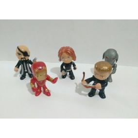 Coleção Marvel Miniaturas Heróis Lote Com 5 Bonecos 4 Cm