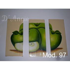 Cuadros Tripticos Modernos Y Elegantes, Al Oleo, Minimalitas