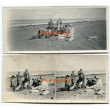 2 Antiguas Fotos Panoramicas Mujeres Y Hombres En Playa