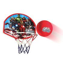 Kit Basquete Tabela Cesta Bola Vingadores Avengers Infantil