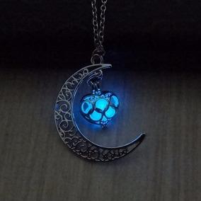 Hermoso Collar Luna Mujer Brilla Oscuridad