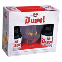 Kit 2 Cervejas Duvel 330ml + Taça