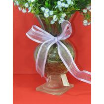 Vaso Taça Com Arranjo De Flores