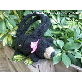 Cartera Perrito Y Osita Para Nenas Tejida Al Crochet