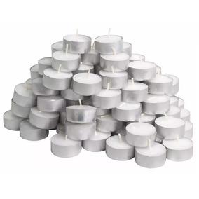 Kit Com 100 Velas Tipo Rechaud Decoração Parafina Alumínio