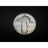 Usa Cuarto De Dolar Fecha 1927 Plata Ley 0.900 6.3g 25mm