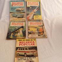 5 Antigüas Revistas De Mécanica Popular ,1959 A 1960 Y 61