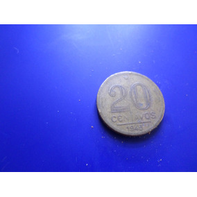 Moeda 20 Centavos Bzal Getulio Vargas Ano 1945