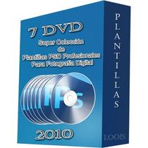 Plantillas Psd Para Fotografía Digital 7 Dvd - 15 Años, Boda