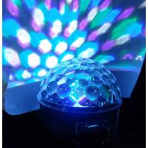 Esfera De Leds Disco + Bocina Reproduce Mp3 Lector Usb/sd