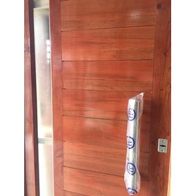 aberturas puerta madera cedro frente x cm pesada barral
