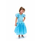 Fantasia Cinderela Princesa Princesinha Menina Criança Festa