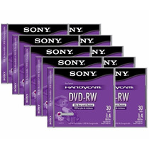 10 Mini Discos Dvd-rw Sony Handycam Re-grabable Video Camara