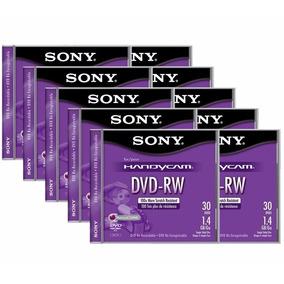 10 Mini Discos Dvd-rw Sony Handycam Re-grabable Video Camara