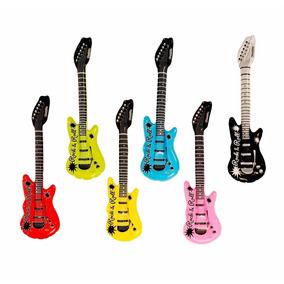 Kit De 18 Guitarras Eléctricas Inflables Instrumentos Fiesta