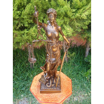 Lrc Escultura De Bronce Diosa De La Justicia Única!