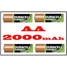 Pilha Duracell Aa Recarregável 1.2v 2000mah - 4und Original