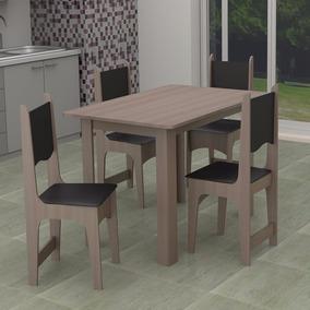 Conjunto Cozinha Sala Mesa Com 4 Cadeiras || Apenas Rj