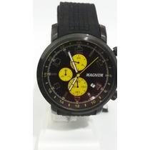Relógio Magnum Cronógrafo E Pulseira De Silicone + Frete