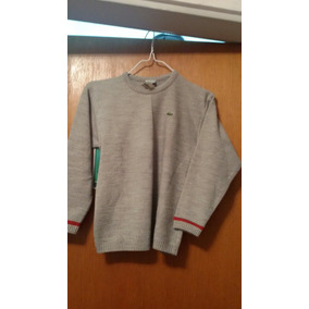 Sweter Lacost Lana Gris Talle 10