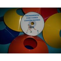 Kit10 Cones Chapeu Chines +1 Dvd De Exercicios + Brinde