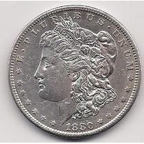 Super Ganga, Morgan Dollar, Año 1880 S, Plata Ley 0.900