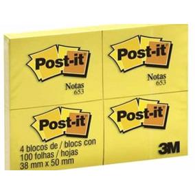 Bloco Lembrete Post-it 38x50 - 04 Blocos Com 100fls Cada