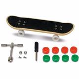 Skate De Dedo Profissional Fingerboard + Kit Reparo 2 Skate