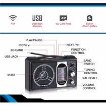 Portable Radio Sate By Satellite Int Fm/am Sd, Usb Y Bateria
