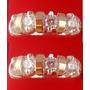 2 Aparadores De Aliança Prata 950 Ouro Puro Anéis + Brinde
