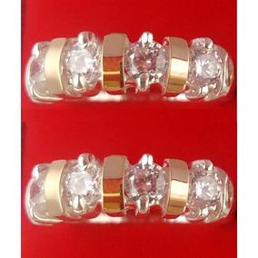 2 Aparadores De Aliança Prata 950 Ouro Puro Anéis Promoção